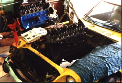 rebuilding a datsun 240z engine pulling the engine