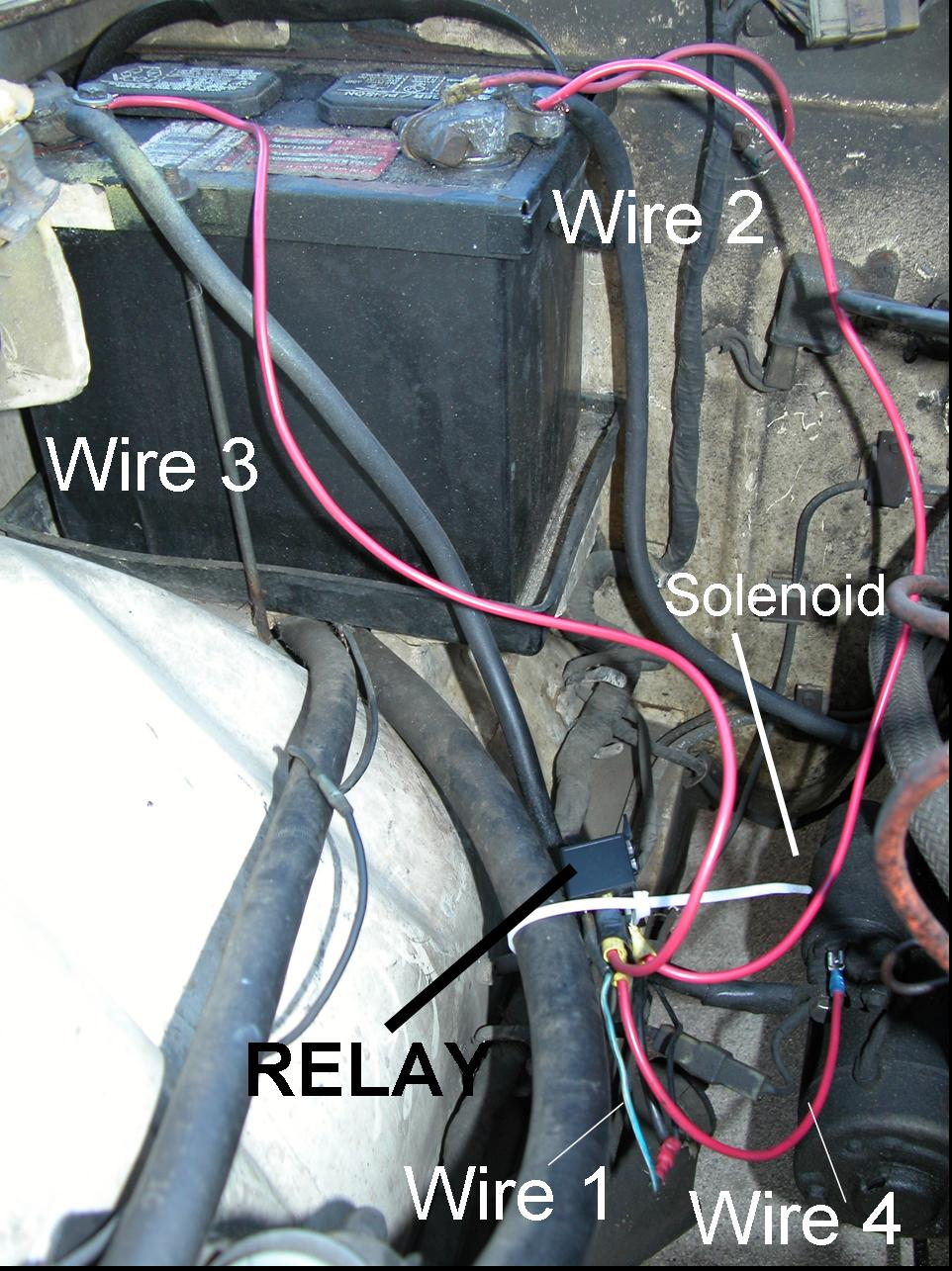 addition of a relay to a 240z starter system